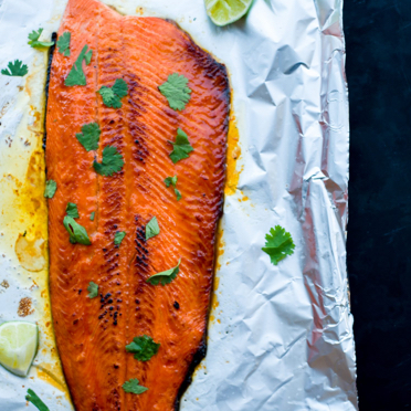 Hot honey broiled salmon is new take on the classic baked honey glazed salmon