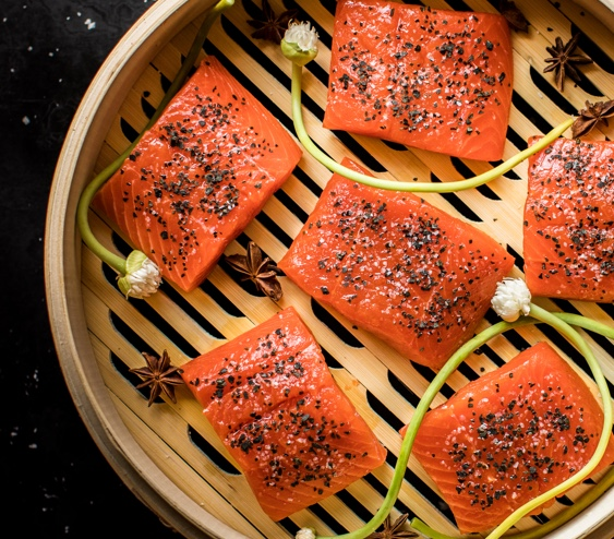 Making steamed salmon can help lock in flavors you wouldn't be able to achieve with other methods of cooking.