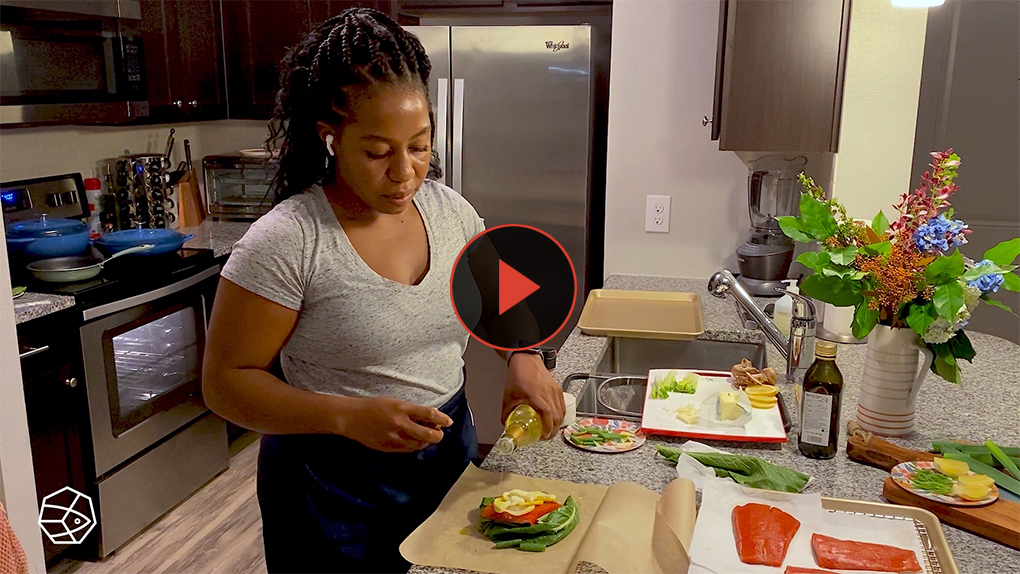Check out this delicious recipe for oven poached salmon in parchment paper with Alaska-based chefKaylah Thomas.